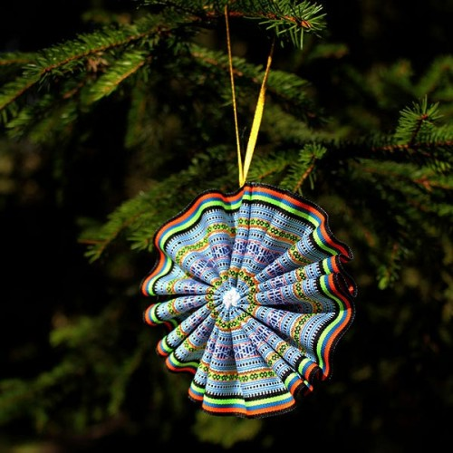 Ribbon Christmas tree decoration