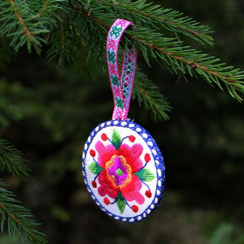 Circular Christmas tree decoration
