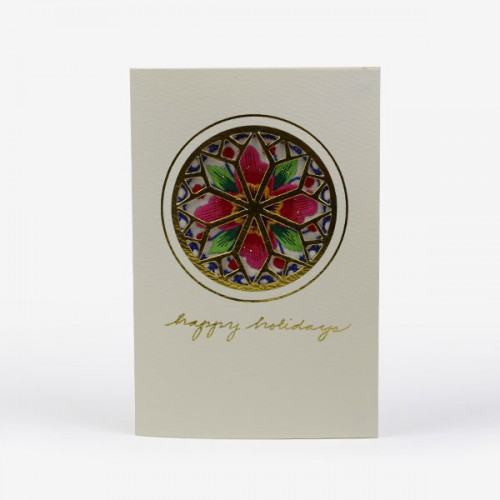 'Rose window' Christmas card