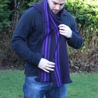 Nomad triple stripe scarf - bluebell