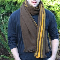 Nomad triple stripe scarf - prayer wheel