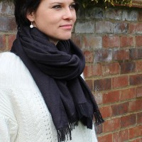 Urban chic flower scarf