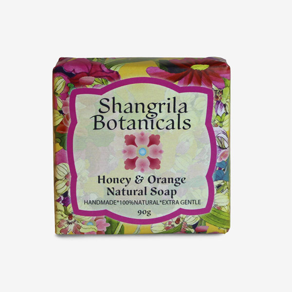 Honey and orange natural soap