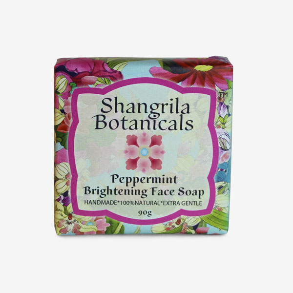 Peppermint brightening soap