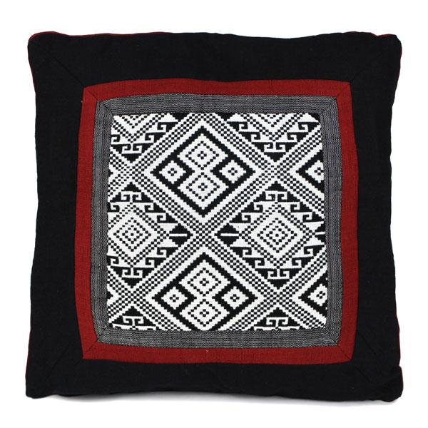 Black Hmong pattern cushion cover