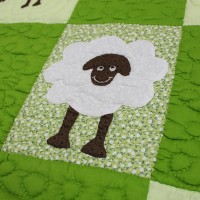 BBY015_Sheep-Baby_Blanket_detail