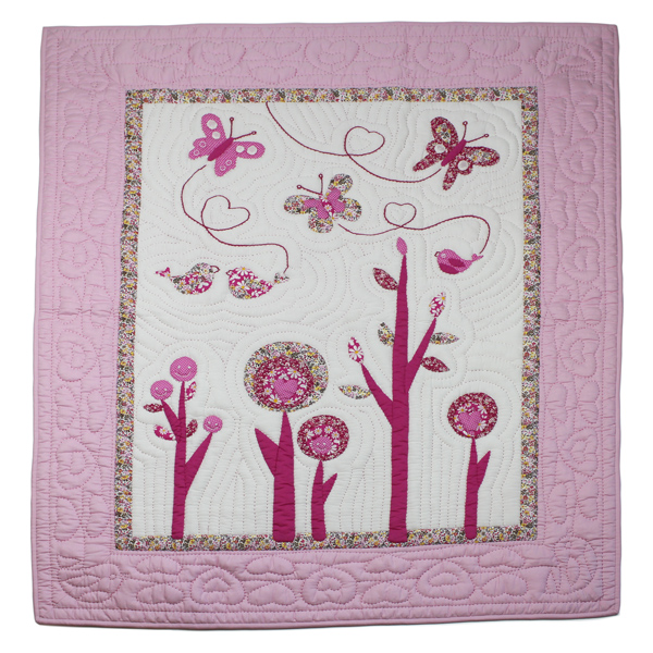 BBY026_Flowers-Baby_Blanket_front