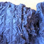 The fabric is dyed several times over a couple of weeks