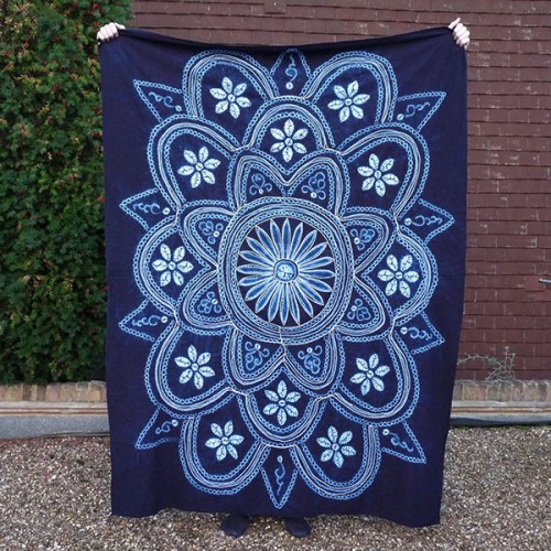 Sun pattern tie-dye : indigo