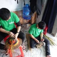 Making Baskets at HTWH, Hue