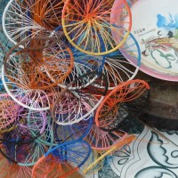 Frames prepared to make baskets