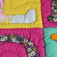 Baby quilt pink