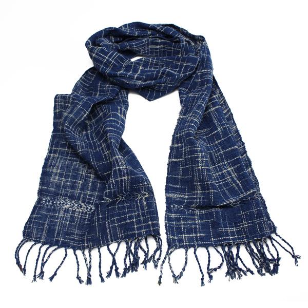 Loose check ikat scarf