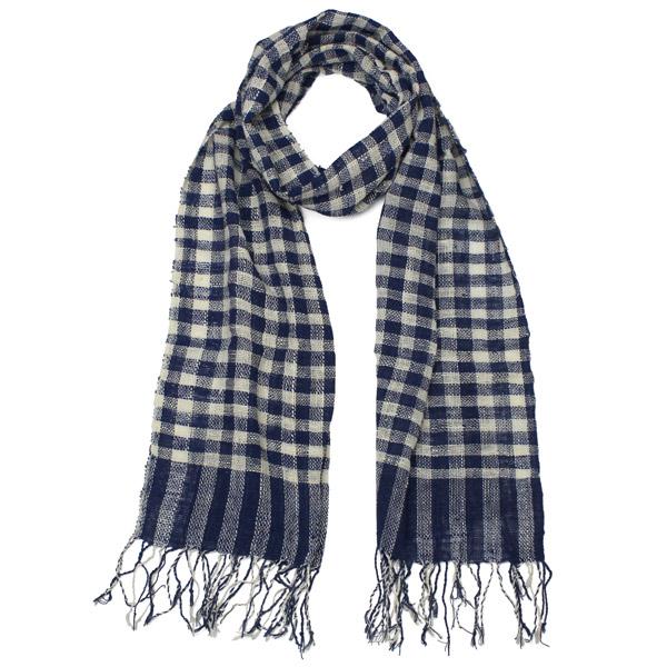 Laos check scarf main